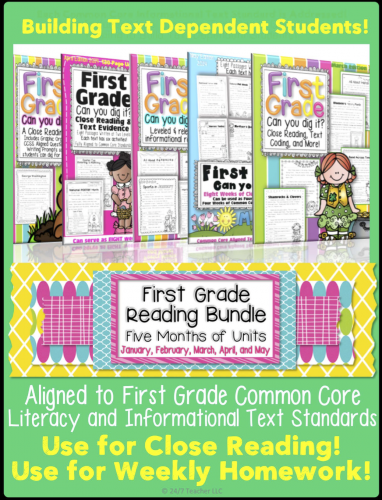 Click the link to pick up my First Grade Half Year Bundle.