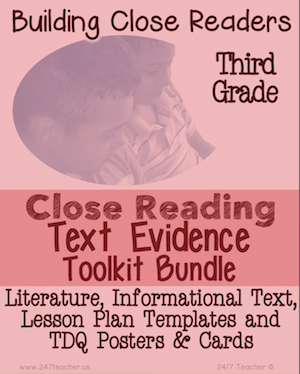 Third Grade Close Reading Toolkit