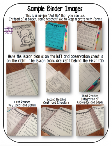 Third Fourth Grade Close Reading Toolkit
