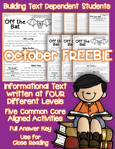 October Freebie for Reading and More +Lessons, Halloween/Pumpkin ...