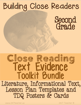 Second Grade Close Reading Toolkit with Lesson Plans